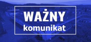 Logo na stronę - Ważny komunikat