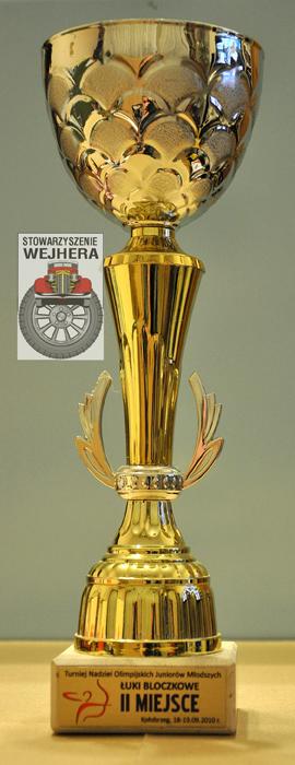 Puchar za zajęcie II miejsca w konkurencji łuki bloczkowe