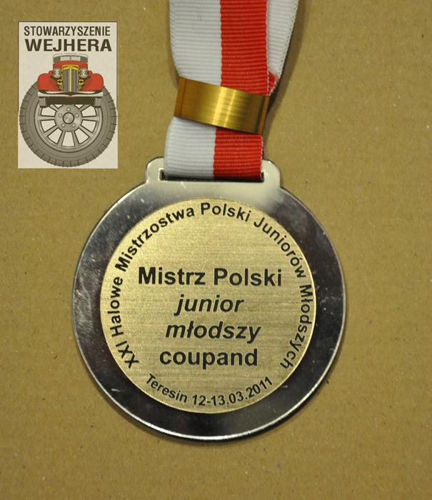 Medal - mistrz Polski junior młodszy