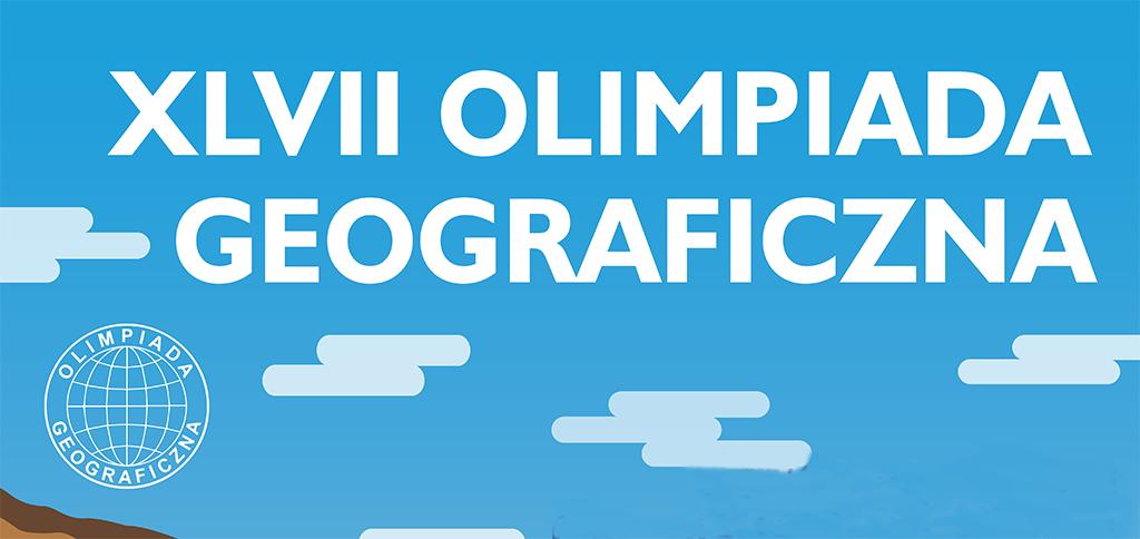 Plakat XVIII Olimpiady Geograficznej. Zdjęcie tytułowe artykułu