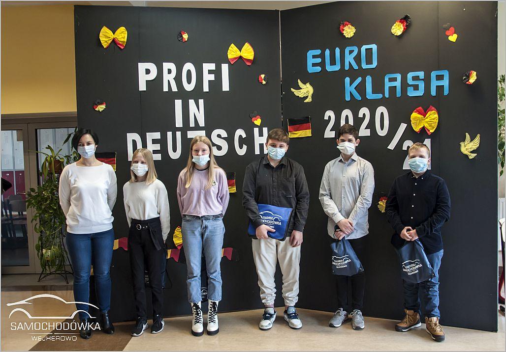 Konkurs Profi in Deutsch. Zdjęcie pamiątkowe drużyny