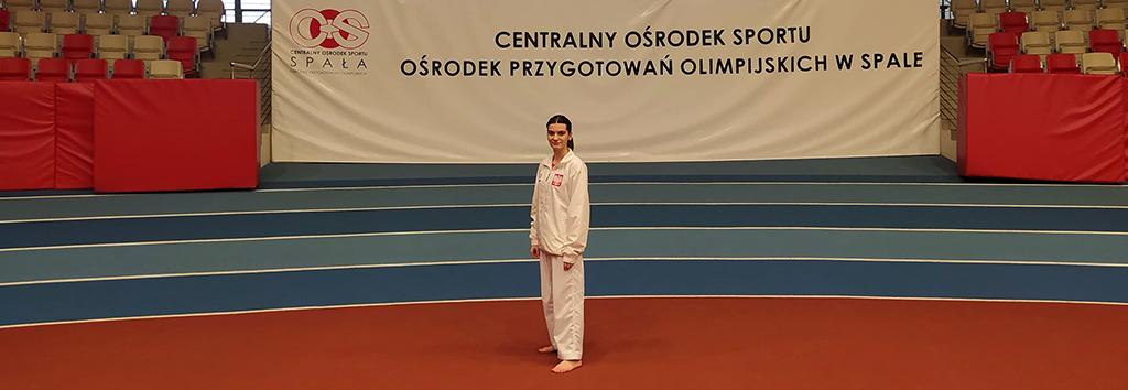 Dominika Szatkowska w Centralnym Ośrodku Sportu w Spale